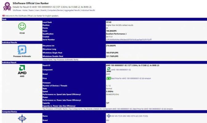 AMD Ryzen 3000 6 cœurs