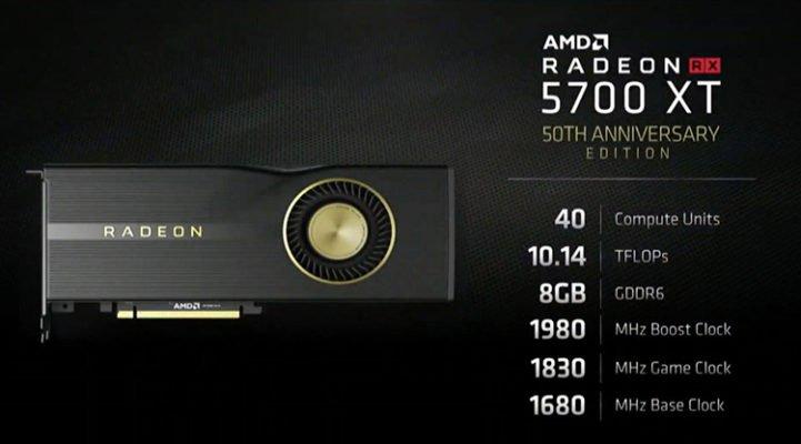 AMD RX 5700 XT 50th Anniversary