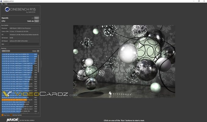 AMD Ryzen 5 3600 Cinebench R15