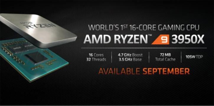Ryzen 9 3950X lancement