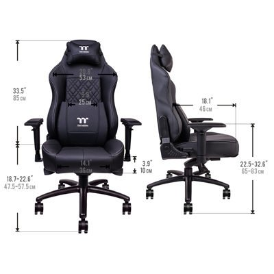 Thermaltake X Comfort Real Leather dimensions