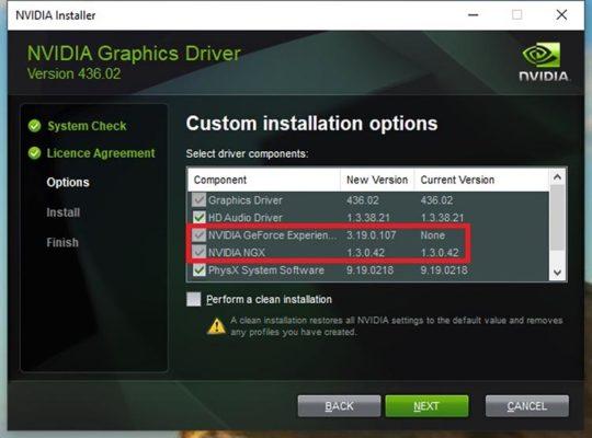 GeForce 436.02 GeForce Experience bug