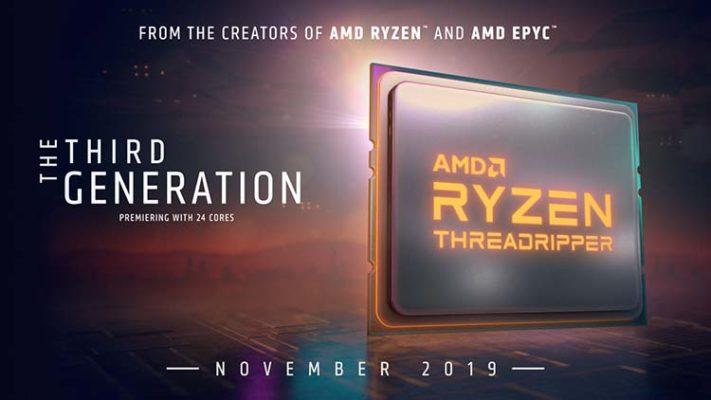 AMD Threadripper 3000 lancement Novembre