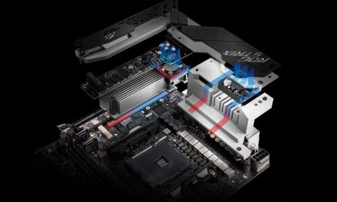 Asus ROG Strix X570-I cooling