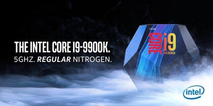 Intel 9900K 5.00 GHz regular Nitrogen - Intel se moque de la pub des Ryzen Pro à 5.00 GHz