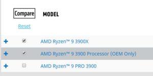 AMD Ryzen 9 3900 OEM Only
