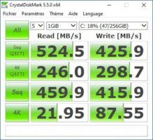 protocole SSD 2019 CristalDiskMark
