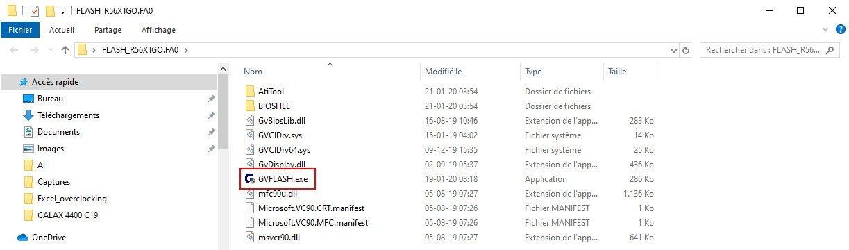Procédure de flash de la Gigabyte RX 5600 XT Gaming OC