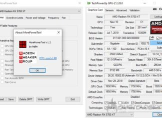 Le logiciel d'overclocking MorePowerTool