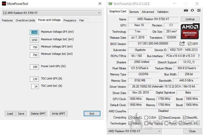 Le logiciel d'overclocking MorePowerTool