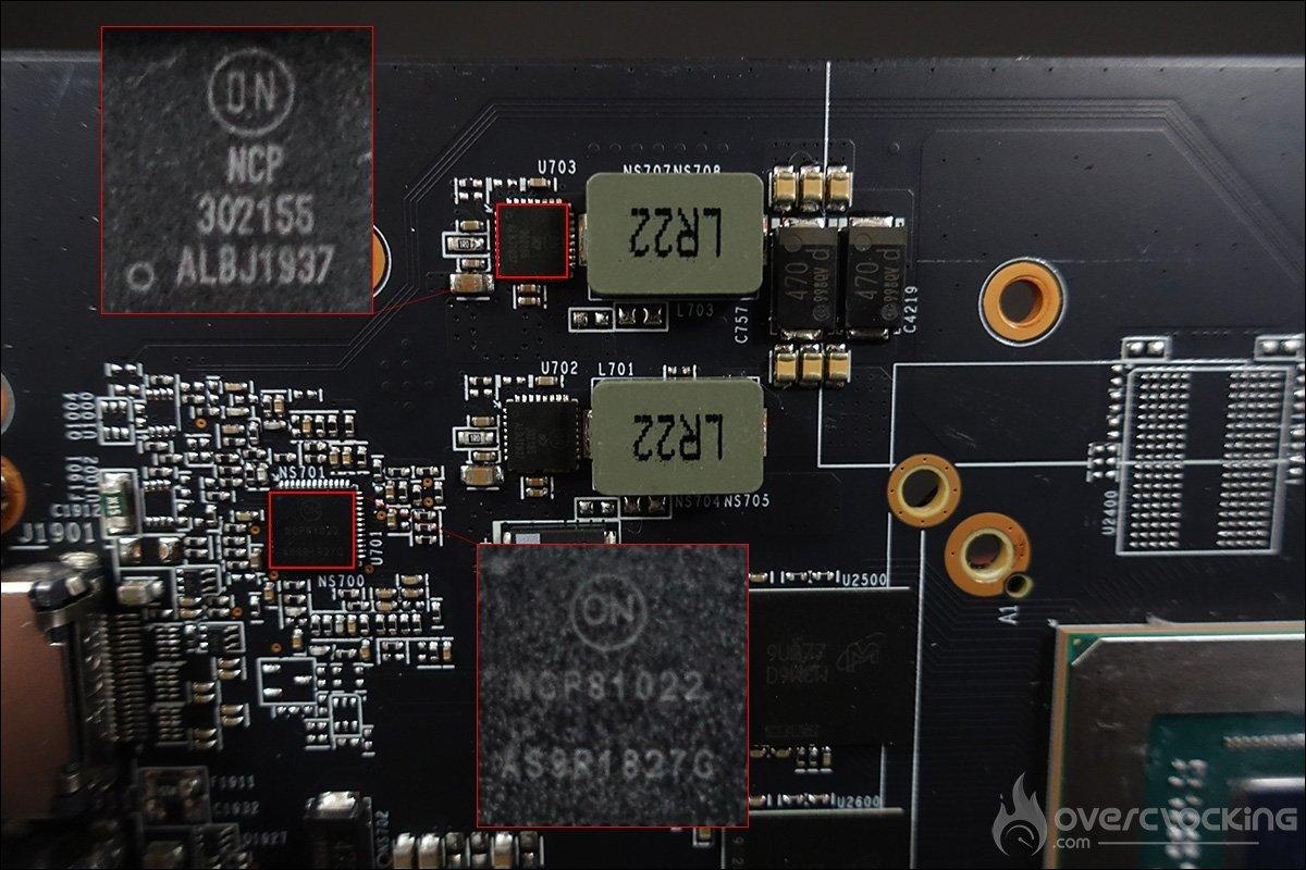 Le PCB de la MSI RX 5600 XT Gaming X