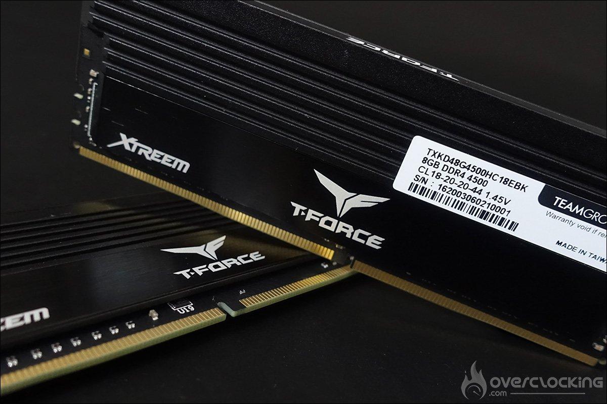 Le kit mémoire T-Force Xtreem 4500MHz CL18 de Teamgroup