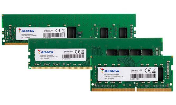 ADATA RAM industrielle 32 Go 3200 MHz