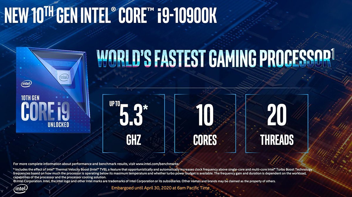 Intel i9-10900k