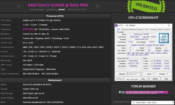 Core i7 10700K