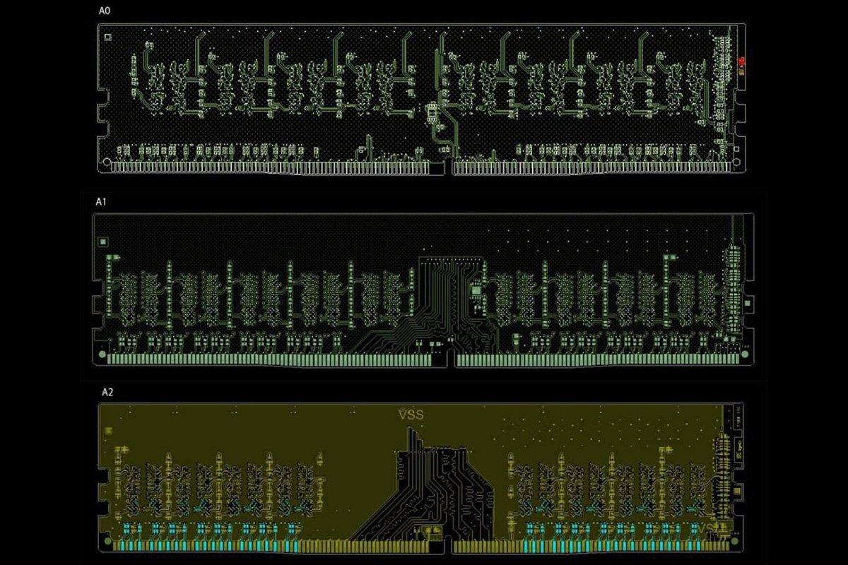PCB DDR4 A0, A1 et A2