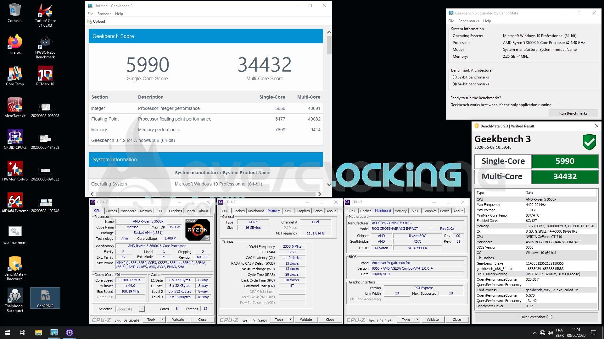 Overclocking GSKILL 4000 MHz CL18