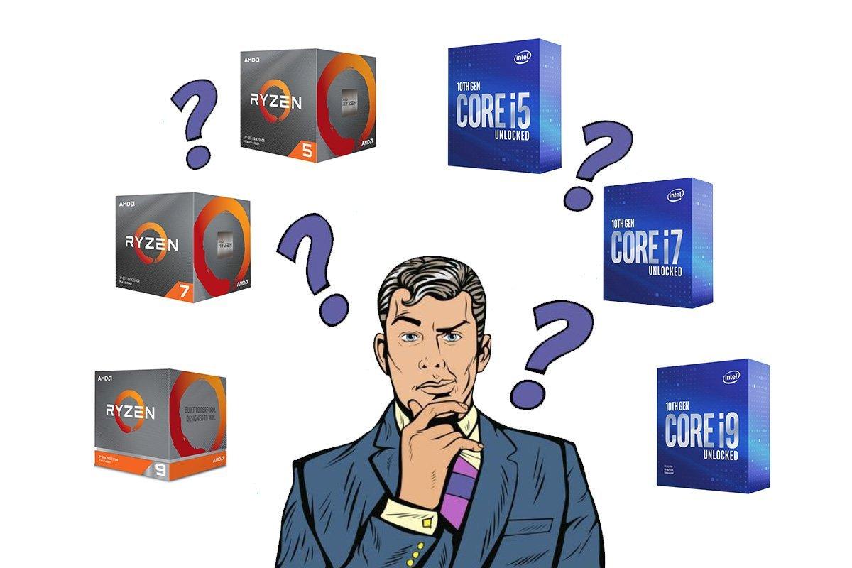Comparatif processeurs AMD et INTEL