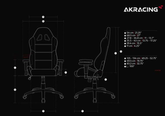 Dimensions du AKRacing Ex