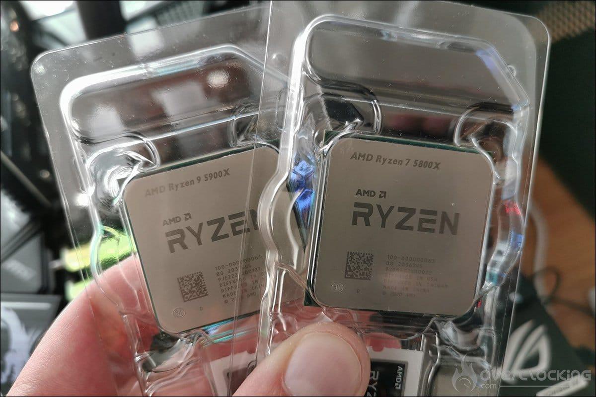 Ryzen AMD 5800X et 5900X