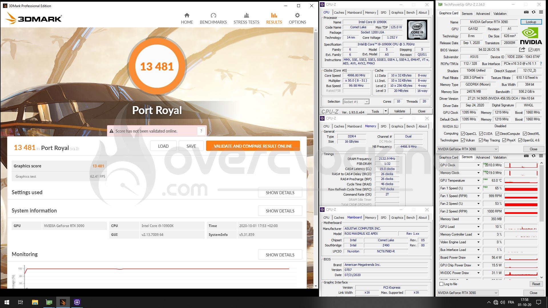 Port Royal Asus RTX 3090 Strix OC