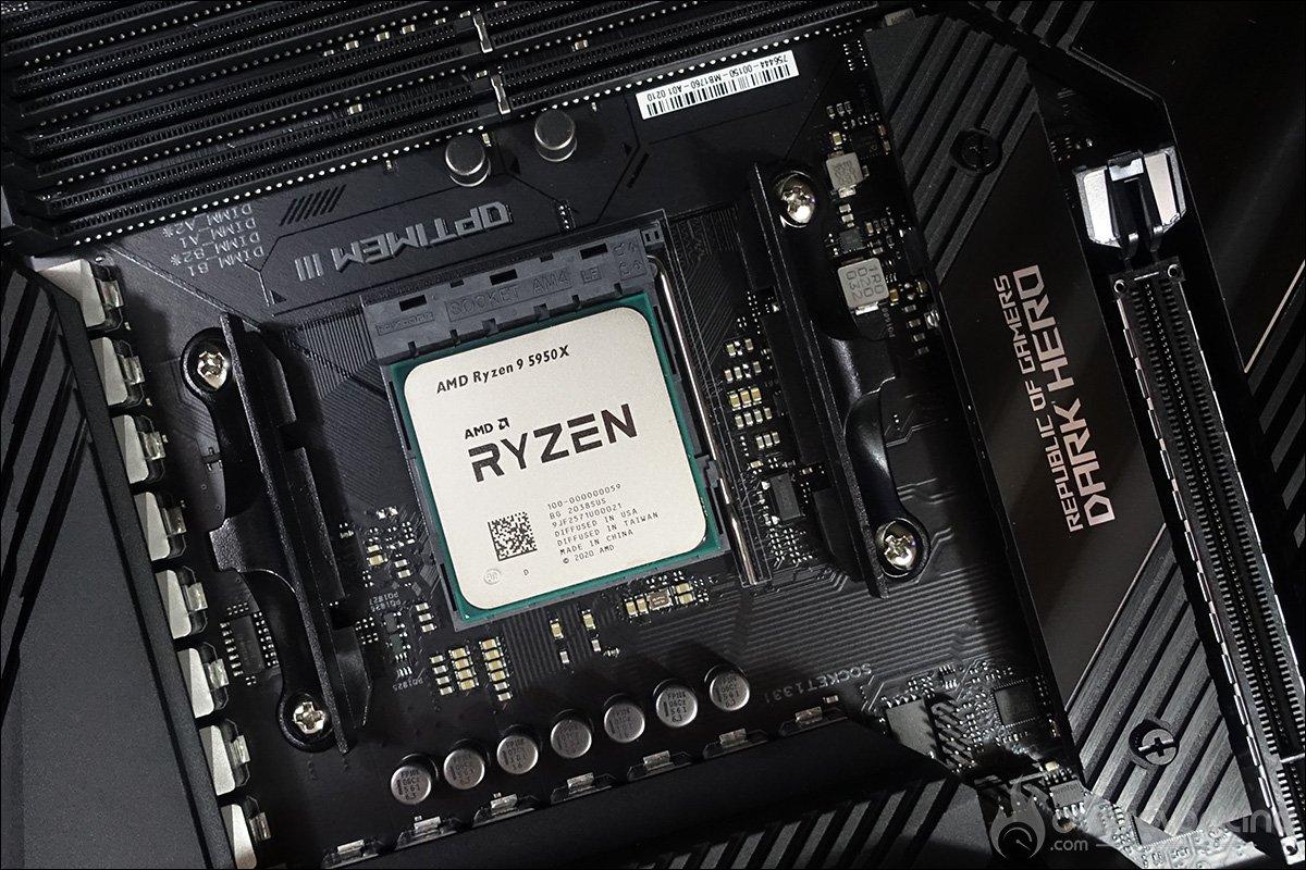 Ryzen 5950X et Asus Crosshair VIII Dark Hero