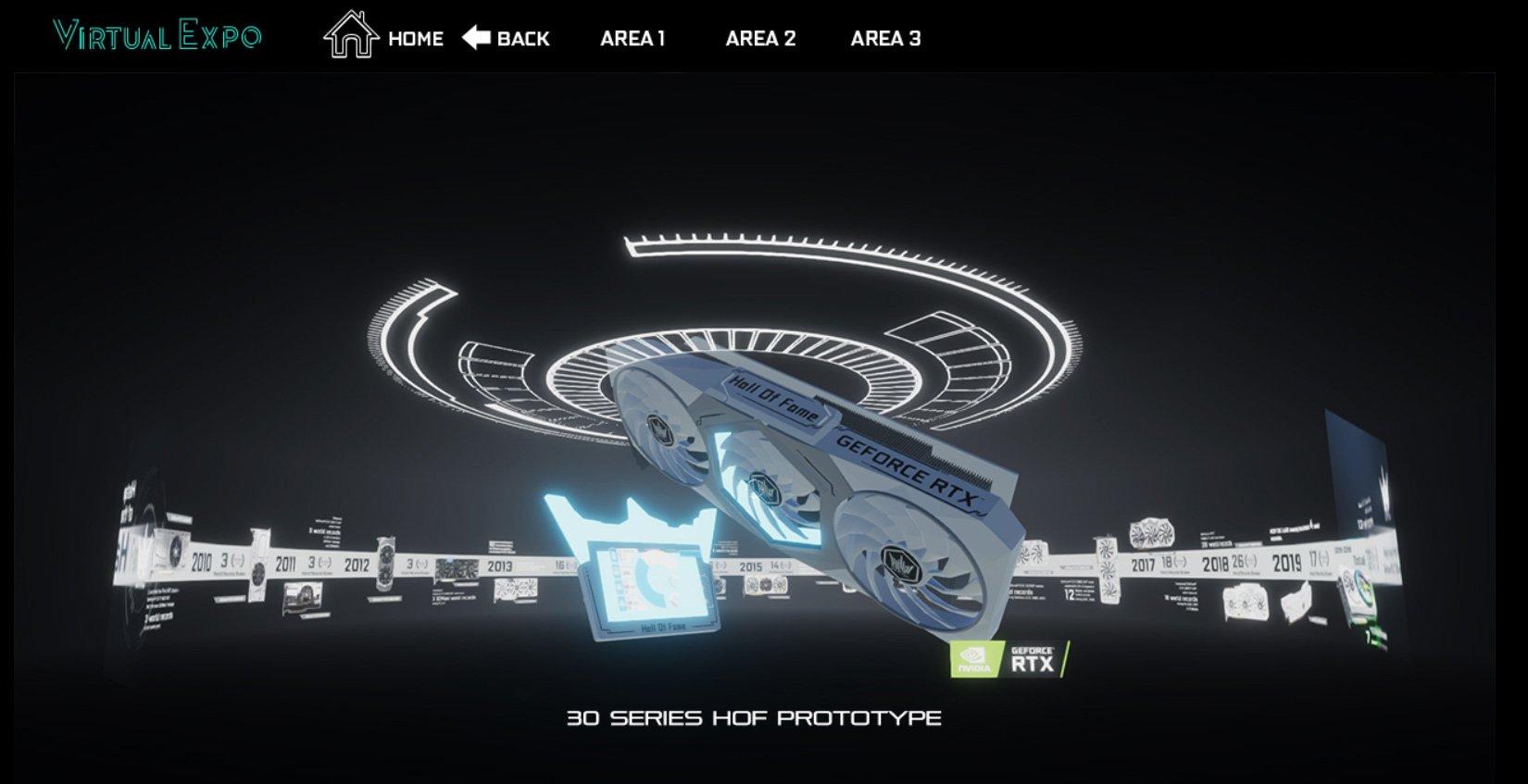 Exposition virtuelle de la marque GALAX KFA2