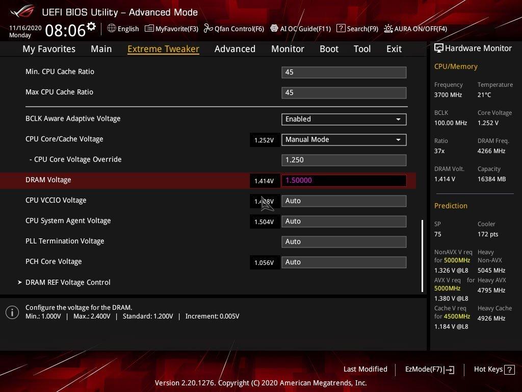 Réglages BIOS profil XMP GSKill TridentZ Royal