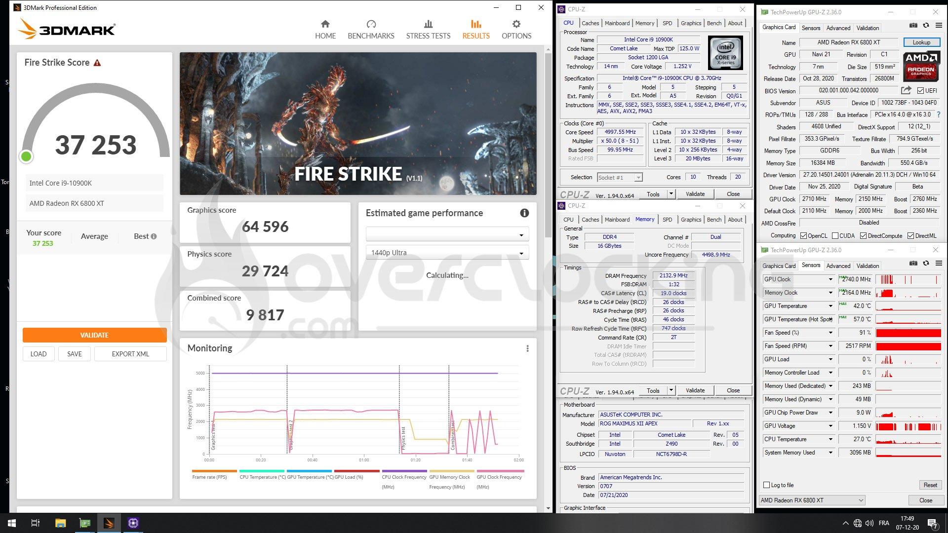 Overclocking Asus ROG RX 6800 XT LC Strix Gaming OC