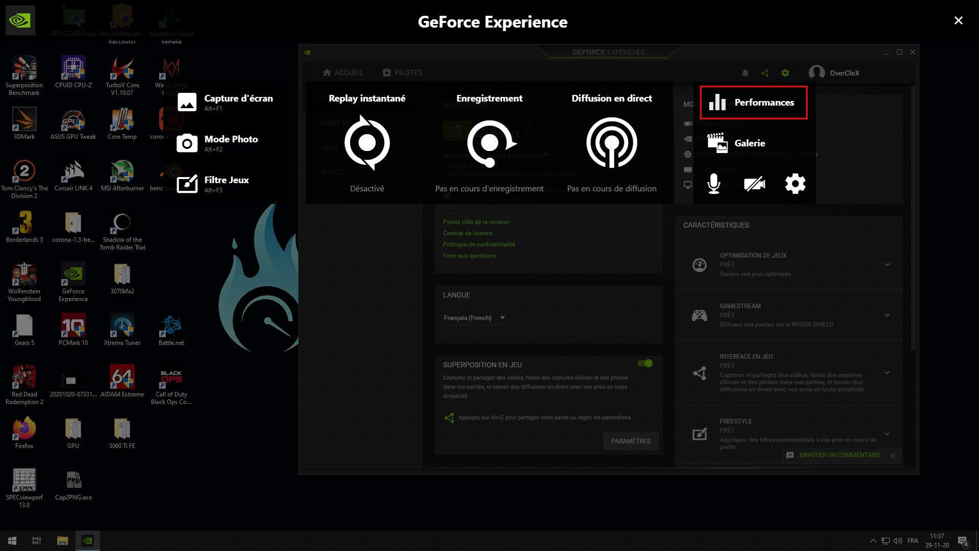 Overclocking via GeForce Experience
