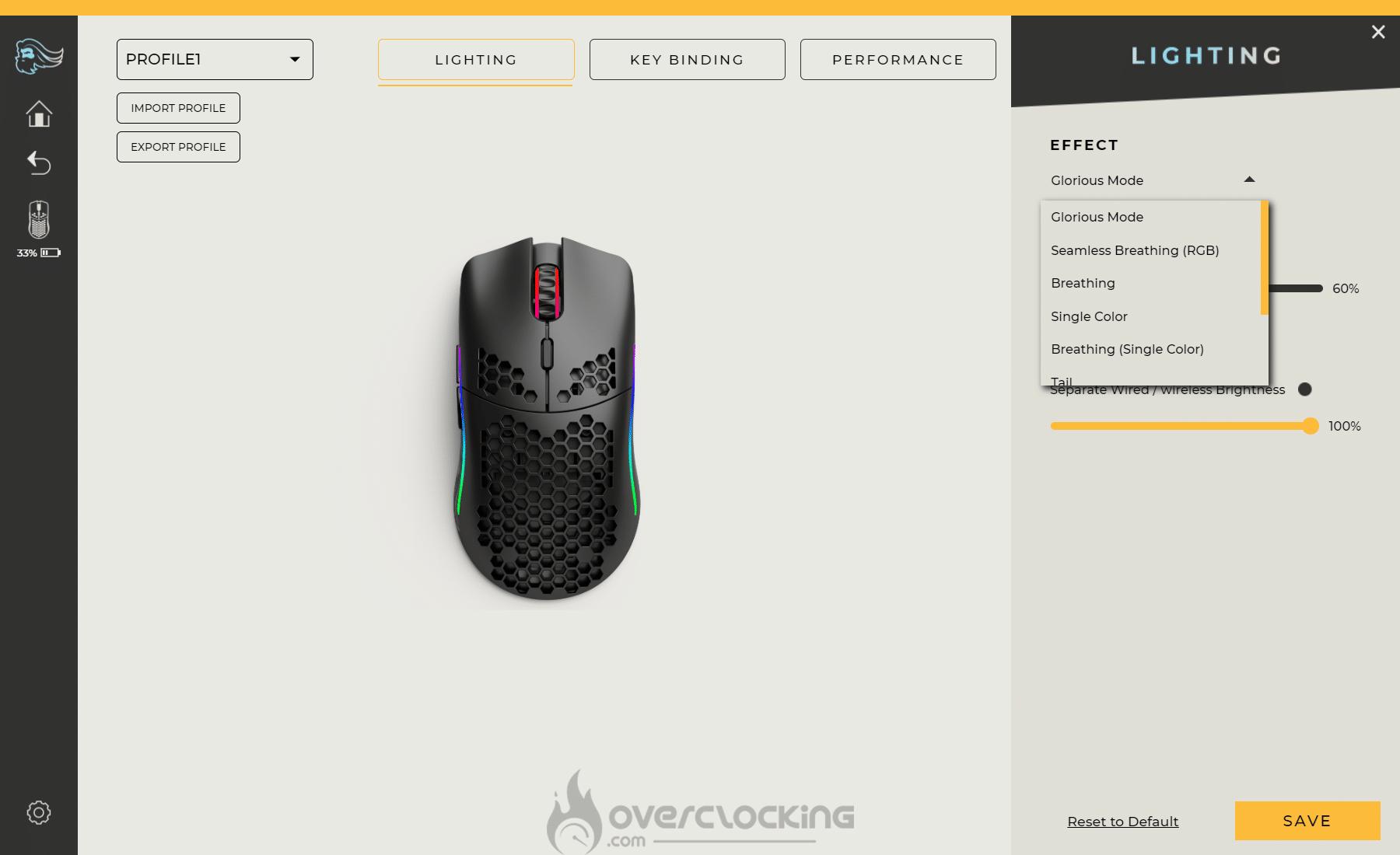 Glorious PC Gaming Race Model O Wireless Lightning