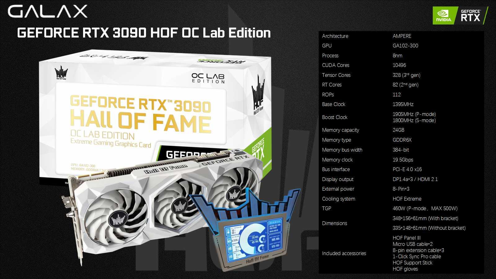 GALAX RTX 3090 HOF OC Lab Edition