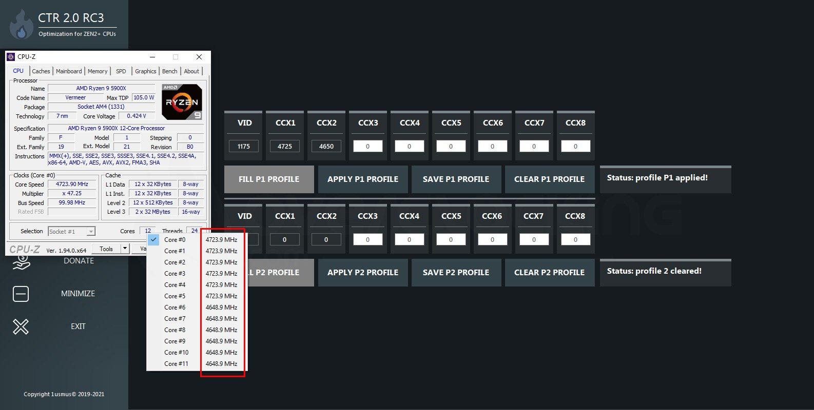 Logiciel Clock Tuner 2.0