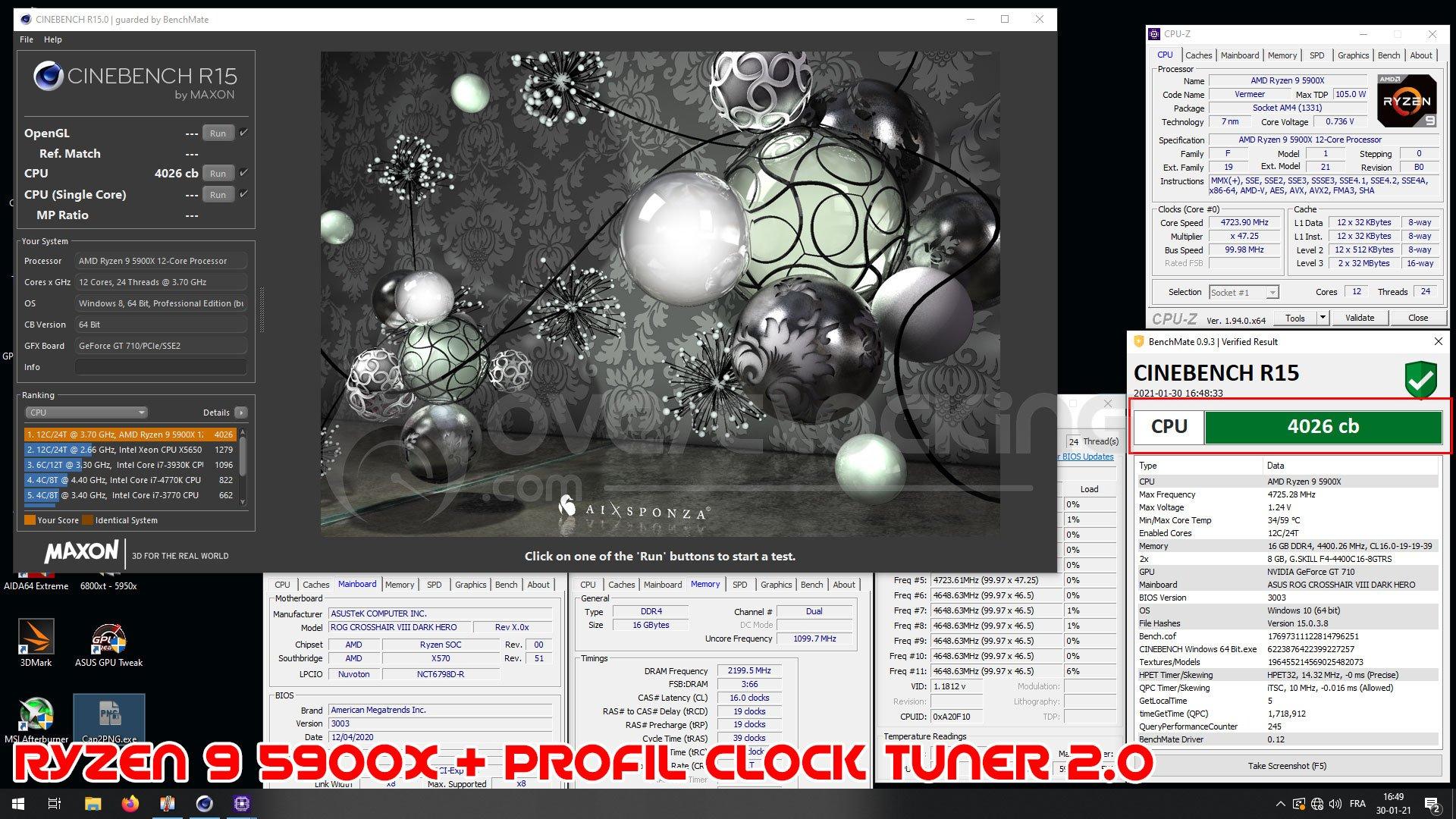 Résultats OC Clock Tuner 2.0