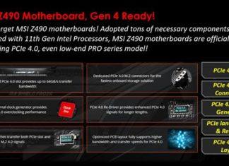 MSI BIOS Z490 PCIe 4.0