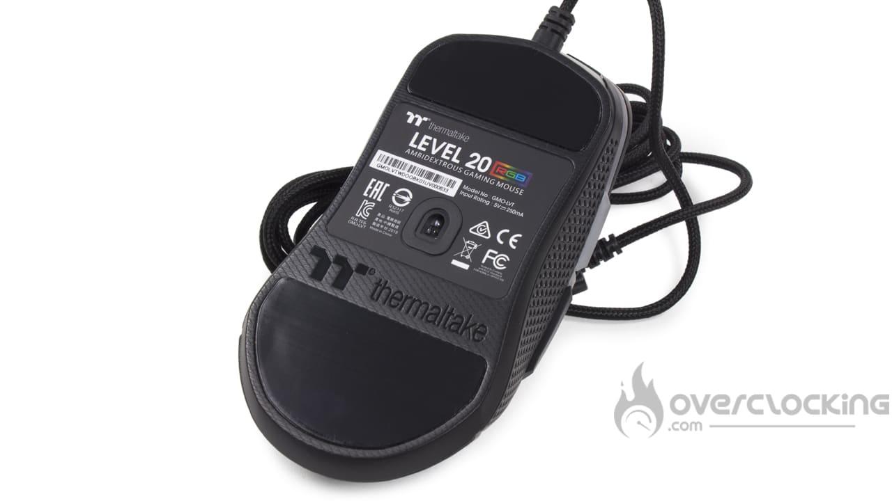 Thermaltake Level 20 RGB Gaming mouse boîte dessous