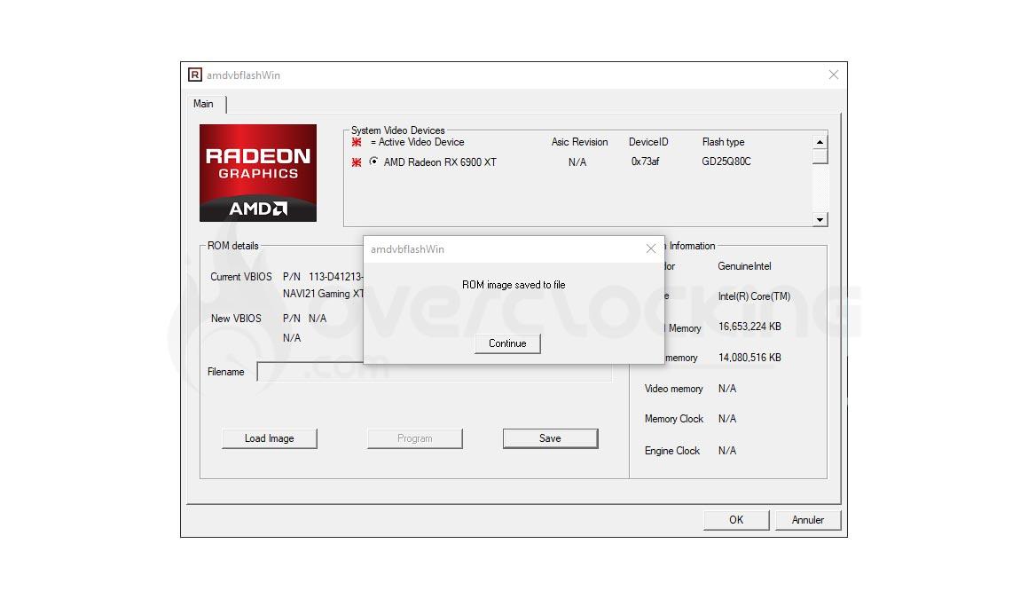 Flash RX 6900 XT AMDVbFlash