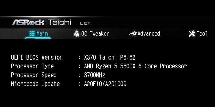 ASRock X370 Taichi Ryzen 5 5600X