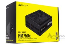 Corsair RM750X boîte