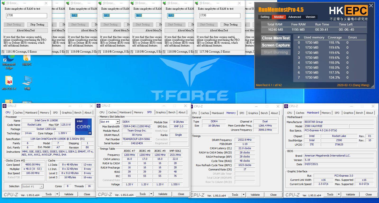 TeamGroup T-Force Z590 Rocket Lake