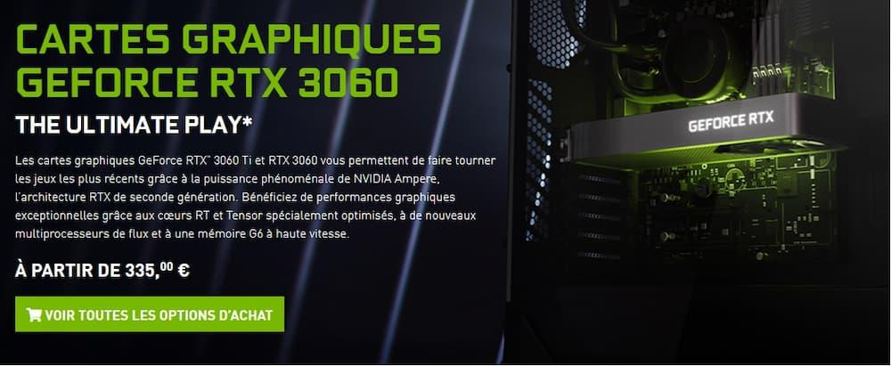RTX 3060 lancement