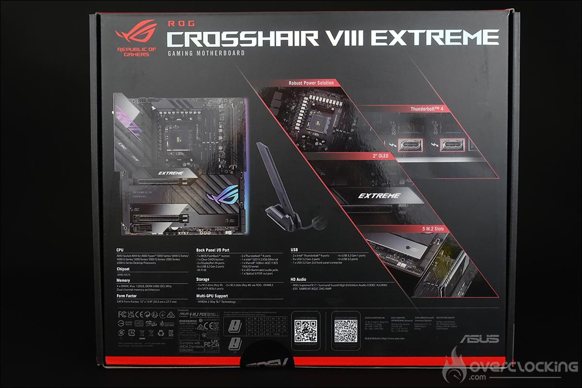 La carte mère Asus ROG Crosshair VIII Extreme