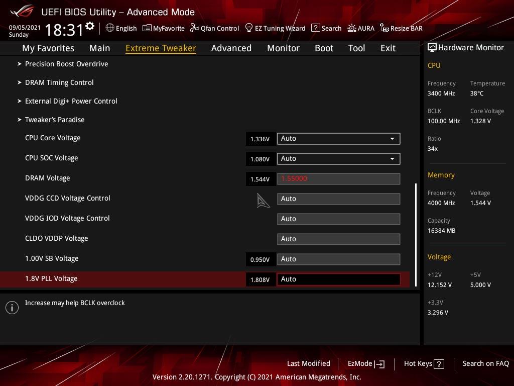 BIOS carte mère Asus ROG Crosshair VIII Extreme
