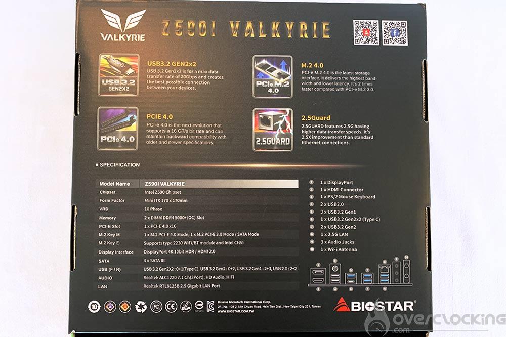 biostar z590i valkyrie box verso