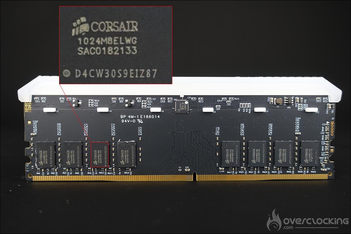 Le PCB du kit mémoire Corsair Vengeance RGB RS