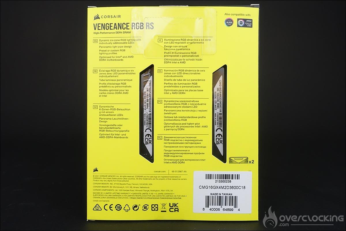 Le kit mémoire Corsair Vengeance RGB RS