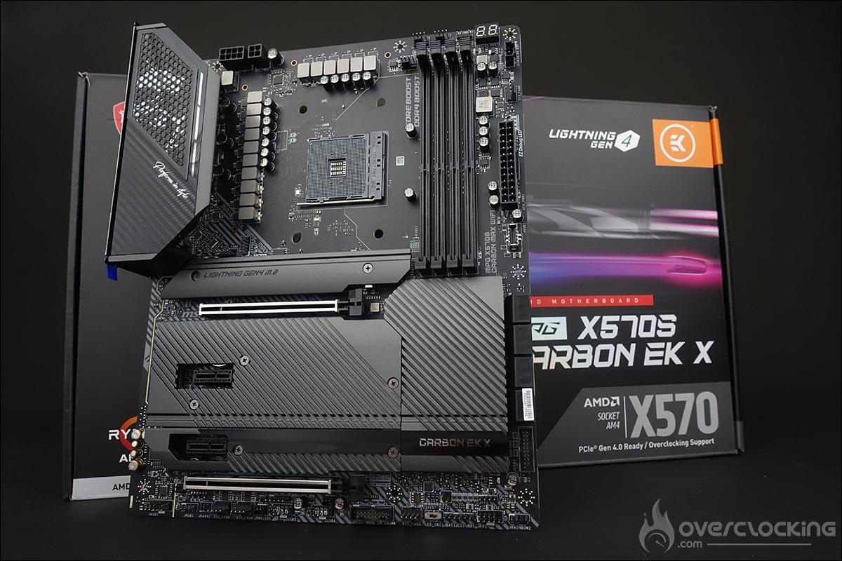 La carte mère MSI MPG X570S Carbon EK X